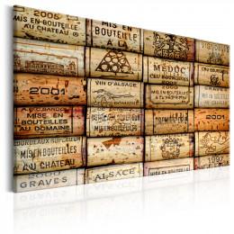 Tablou Colectie de amintiri cu dopuri de vin