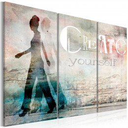 Tablou - Create yourself - triptych