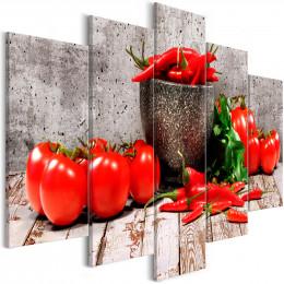 Tablou Cvintic legume rosii pe fundal de beton
