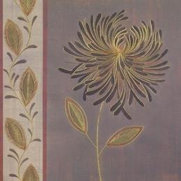 Tablou decorativ floral modern Opulent I cu foita aurie