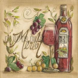 Tablou decorativ Sticla de vin alb sau rosu si struguri