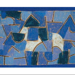 "Tablou inramat Klee ""Noapte albastra"""