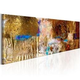 Tablou pictat manual - Golden Structure