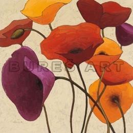 Tablou decorativ ''Flori decorative'' inramat