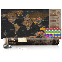 Harta răzuibilă - Brown Map - Poster (English Edition)