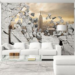 Fototapet - NY - City behind the Wall
