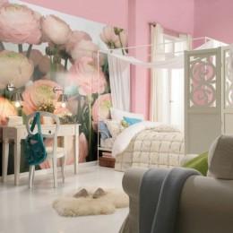 Fototapet flori Trandafiri roz