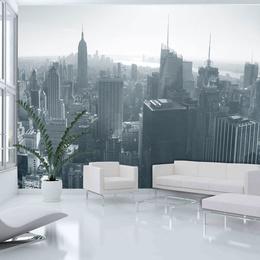 Fototapet - New York City skyline black and white