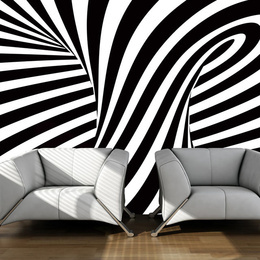 Fototapet - optical art: black and white