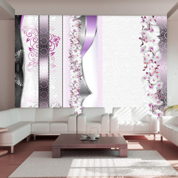 Fototapet - Parade of orchids in violet