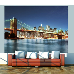 Fototapet - Sparkling Brooklyn Bridge