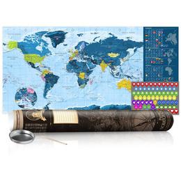 Harta răzuibilă - Blue Map - Poster (English Edition)