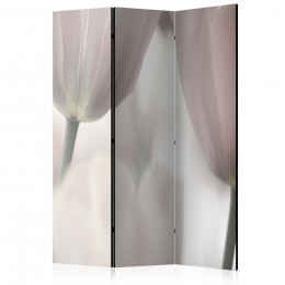 Paravan - Tulips fine art - black and white [Room Dividers]