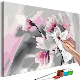 Pictatul pentru recreere - Magnolia (Grey Background)