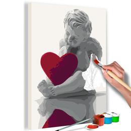 Pictura pe numere - Inger (Inima Rosie)