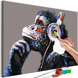 Pictura pe numere - Maimuta Muzicomana
