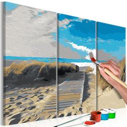 Pictura pe numere - Plaja (Cer Albastru)