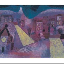 "Poster decorativ modern Klee ""Peisaj de iarna"""