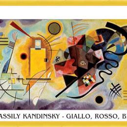 "Poster Kandinsky ""Galben, rosu, albastru"" inramat"