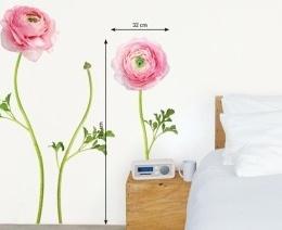 """Sticker de perete cu flori """"Ranunculus"""""""