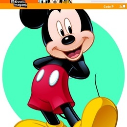 "Sticker de perete ""Mickey si Donald''"