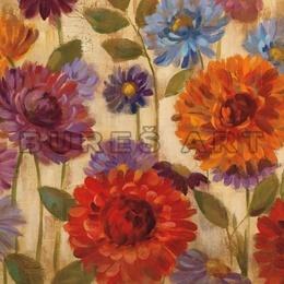 Tablou ''Flori colorate IV'' inramat