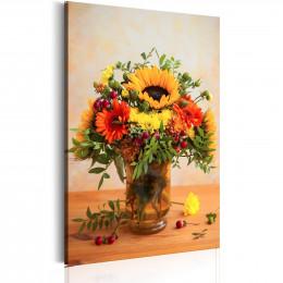 Tablou Buchet cu floarea soarelui si gherbere