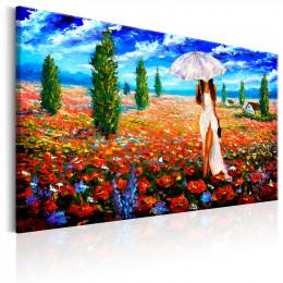 Tablou canvas Femeie cu umbrela