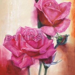 Tablou cu Trandafiri roz inramat