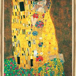 Tablou decorativ Sarutul de Klimt inramat