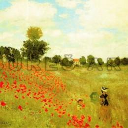 Tablou Monet Camp cu maci, inramat, 60x80