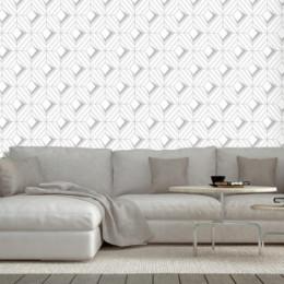 Tapet superlavabil abstract geometric cu romburi