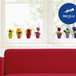 Sticker de geam ''Panselute multicolore''