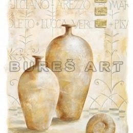 Tablou ''Vase decorative'' inramat