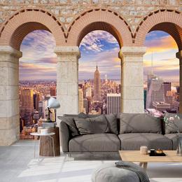 Fototapet 3D orase - Pillars of the City