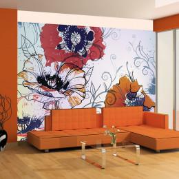 Fototapet - A delicate flower motif