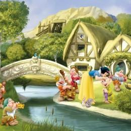 Fototapet copii Alba ca Zapada si cei 7 pitici