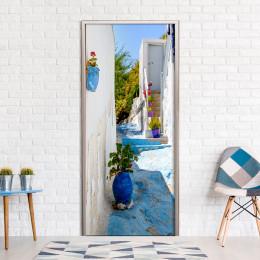 Fototapet pentru ușă - Blue Alley
