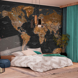 Fototapet - World: Stylish Map