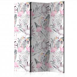 Paravan - Flamingos and Twigs [Room Dividers]