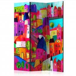 Paravan - Rainbow-hued town [Room Dividers]