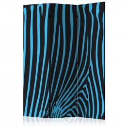Paravan - Zebra pattern (turquoise) [Room Dividers]