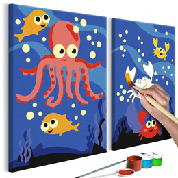 Pictura pe numere - Animalute maritime