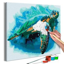 Pictura pe numere - Broasca Testoasa