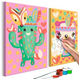 Pictura pe numere - Cactus si Urs