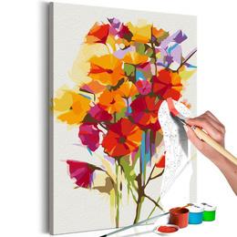 Pictura pe numere - Flori de Vara