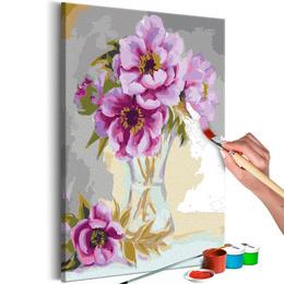 Pictura pe numere - Flori in Vaza