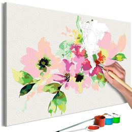 Pictura pe numere - Flori Multicolore