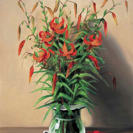 "Poster de arta ""Vas cu flori rosii"""