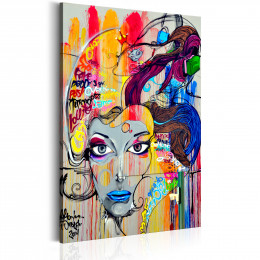 Tablou canvas Ganduri colorate